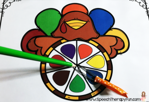 Speech Therapy Fun: Thanksgiving Game for Speech & Language